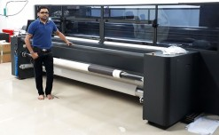Caterpillar Signs installs latest soft signage printer