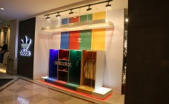 Adidas adds colours to its windows
