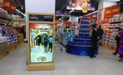 Customer engaging screen installed at Tom Tailor, Spar