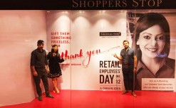 Shoppers Stop's window  tribute to retail staff