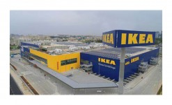 IKEA installs Navigation Tower and Wordmark at its new store site in Navi Mumbai