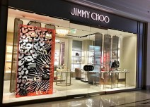 Jimmy Choo's new window add a touch of elegance to women's day celebrations