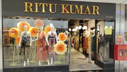 Ritu kumar's window evince blooming happiness.