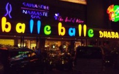A tasteful signage for balle balle Dhaba